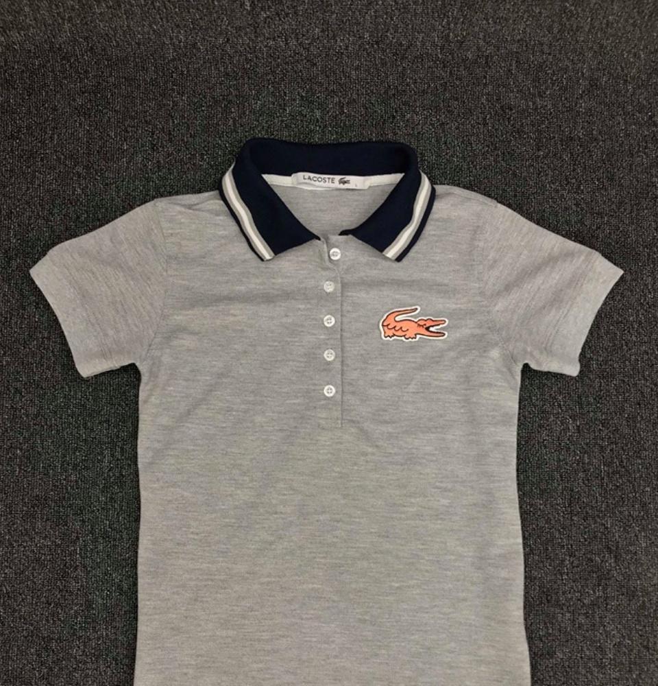 73cc4f761 Product details of Women's Lacoste Polo Shirt 5 Button w/Collar Design(  Winking Croc) + FREE 1PC WOMEN T SHIRT