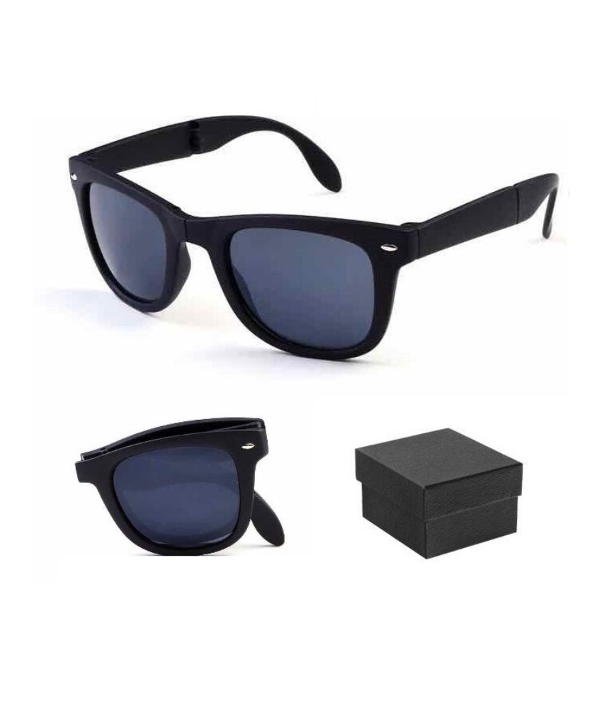 1X Sun Glasses Folding Sunglasses With Box Eyewear Lens Sport Outdoor Driving