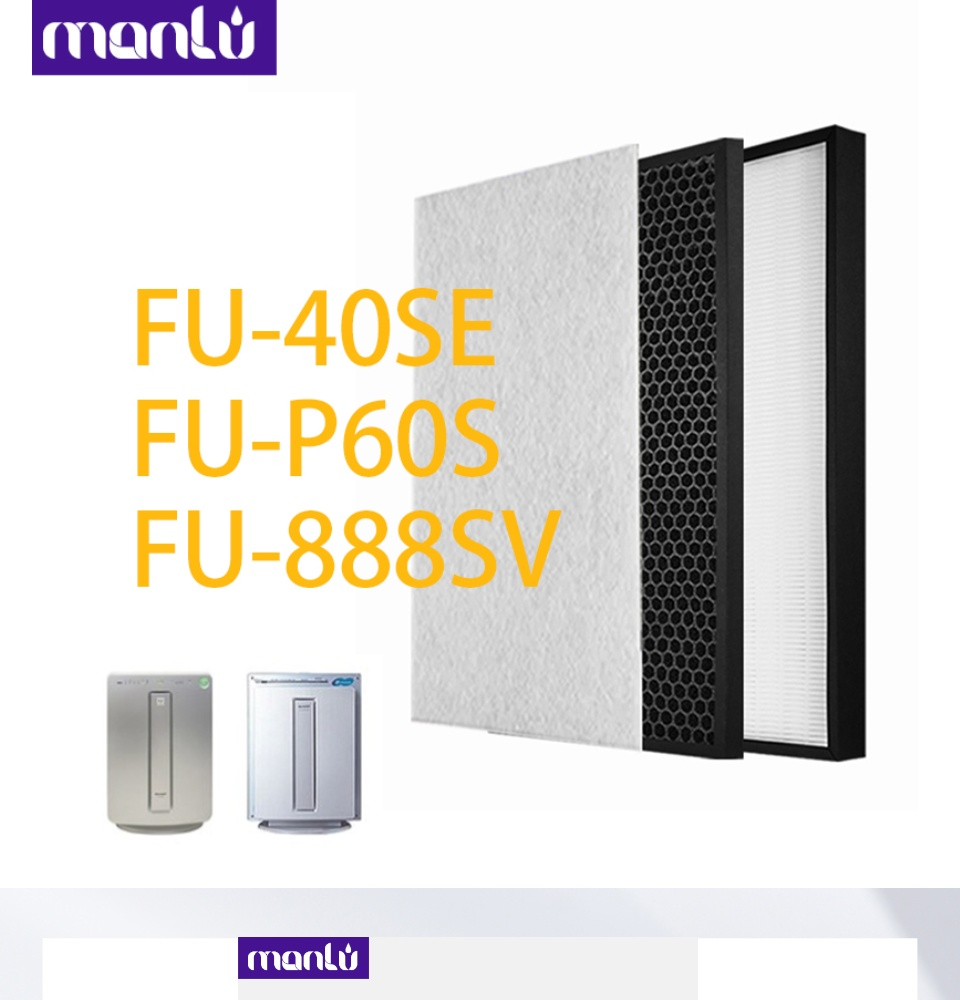 Activated Carbon Filter For Sharp FU-888SV FU-P60S,FU-P40S,FU-40SE Air Purifier