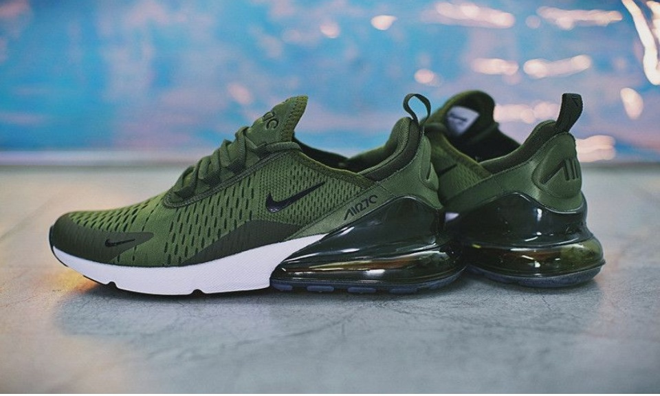 army green nike running shoes