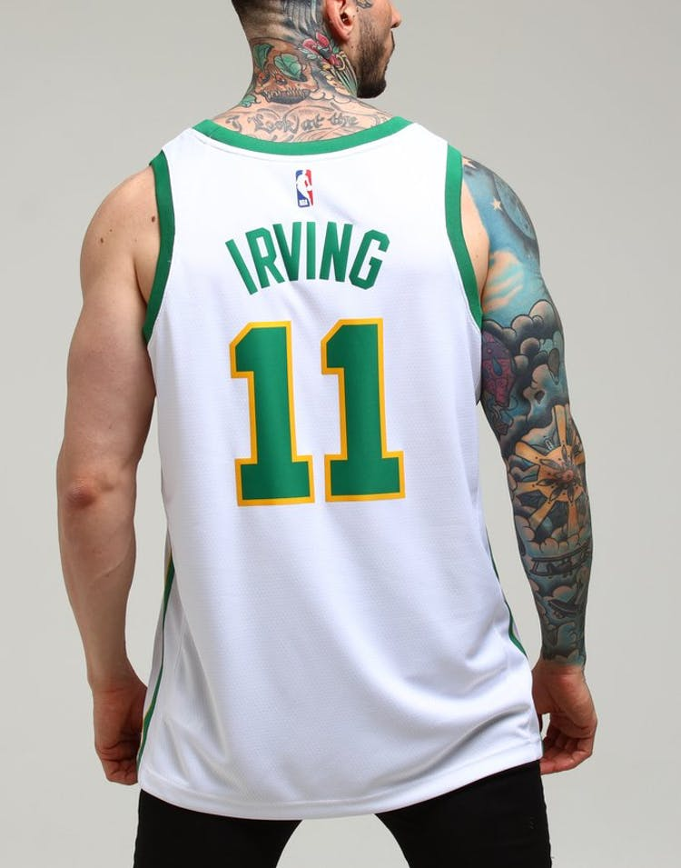 best website d7b2a 8c2c1 Boston Celtics Kyrie Irving #11 City Edition Swingman Jersey