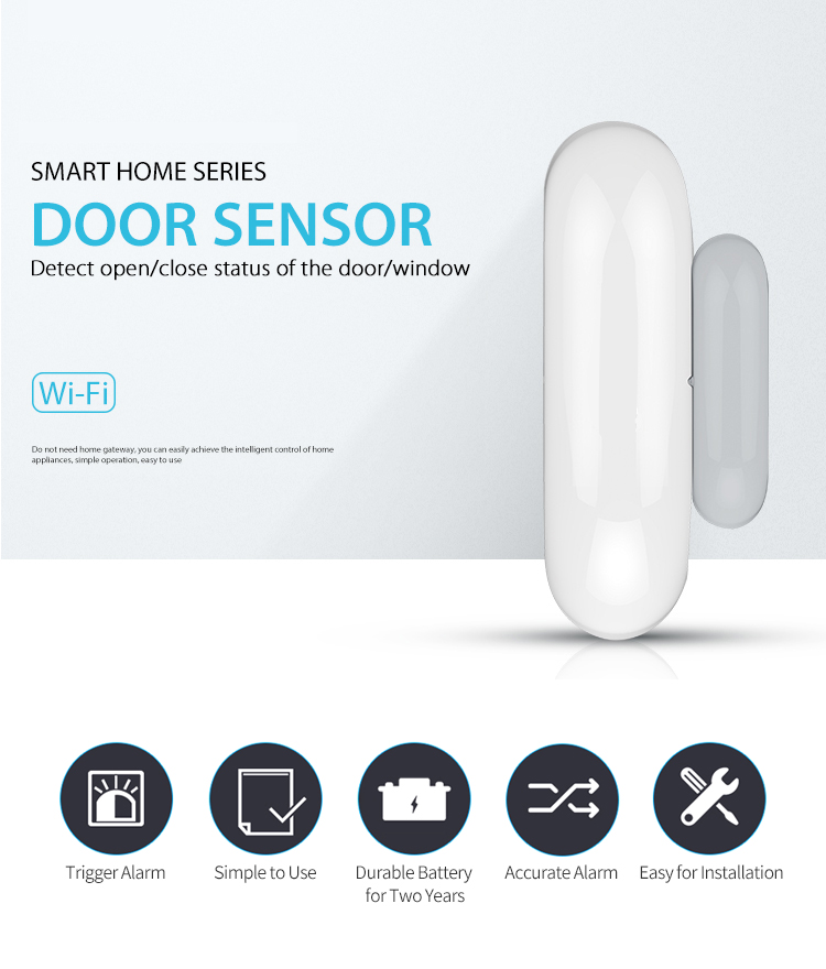 SMART LIFE Door Window WiFi Magnetic Sensor, Smart Home Automation, Mobile  APP, Voice Control (Google, Alexa, IFTTT supported)