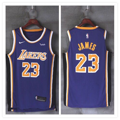 low priced 81ed3 5f193 Men's LeBron James Purple Jersey Basketball Los Angeles Lakers # 23  Statement Edition