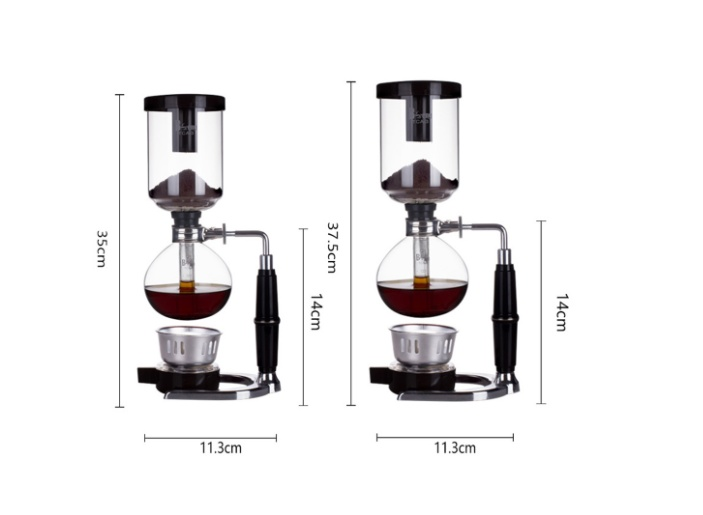 ... Glass 3 Cup Tabletop Siphon Syphon Alcohol Burner 3 Cup Coffee