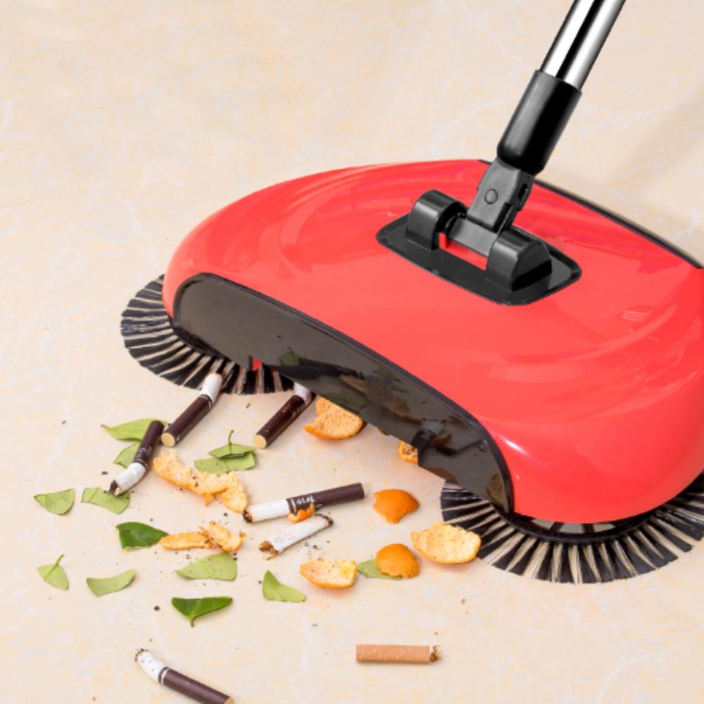 Stainless Steel Push Type Sweeping Broom with Dustpan - Magnetic Rocket  Broom Sweeper Dustpan Floor Brush Carpet Sweeper