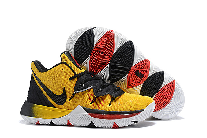 "huge discount f8d49 51b17 Nike Kyrie 5 ""Mamba Mentality"" Tour Yellow/Black Irving Shoes Men's  Basketball Sneakers with FREE!! Nike Elite Socks"