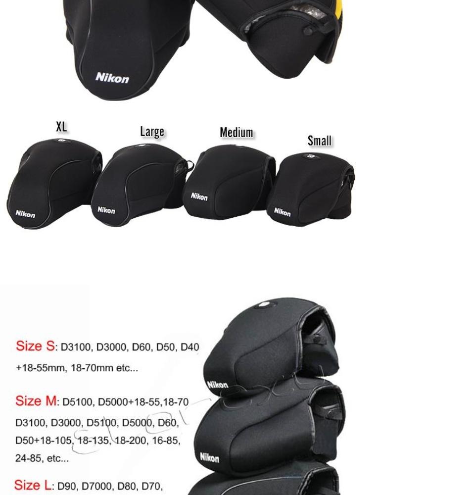 Neoprene Camera Case Bag for Nikon
