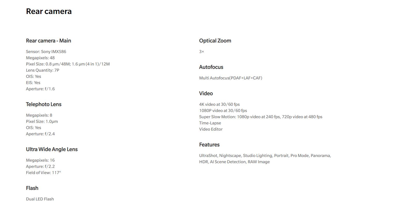 OnePlus 7 Pro 8GB RAM + 256GB STORAGE - Mirror Gray