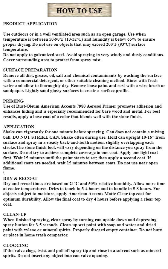 Rust Oleum American Accents Stone Spray Paint, 12 oz  Spray