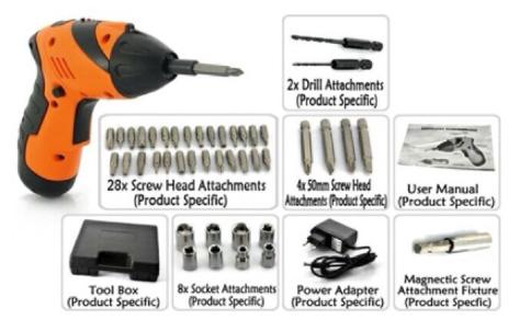 Mini Portable Electric Drill Cordless Screwdriver 45pcs TOOL power tool  power drill