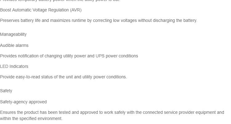 APC BV1000I-MS gruppo di continuit/à UPS A linea interattiva 1000 VA 600 W