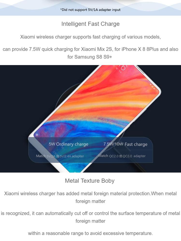 Xiaomi Mi Wireless Charging Pad 10W Qi Wireless Charger Fast Wireless  Charging Pad
