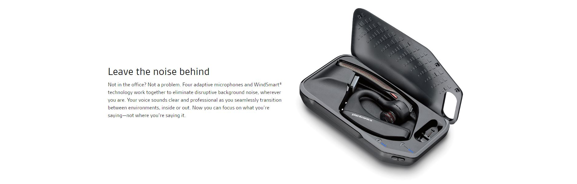 Plantronics VOYAGER 5200 UC Advanced NC Bluetooth Headsets System (BT600  USB dongle, Charging Case) (P/N: 206110-101)