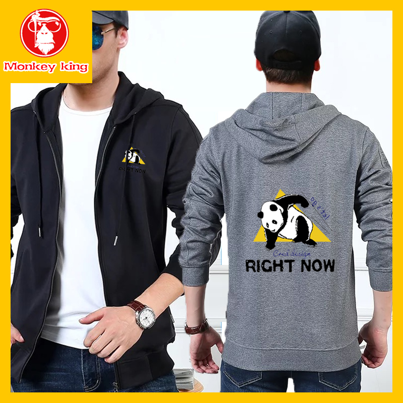 7c5f7c5d6 [Monkey King] With Hooded Sweatshirts Jacket for Mens Korean Fashion Sale  Pocket Cardigan Unisex Zipper Men [Gray\Navy blue\Dark ...