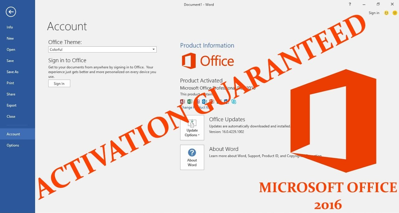 Office 365 Pro Plus and 2016 for 5 Devices Activation PERMANENT!