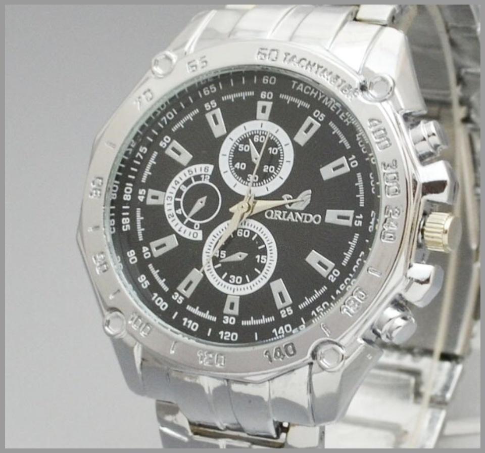 QF ORLANDO Stainless steel Waterproof Quartz Luxury Men Wrist Watch