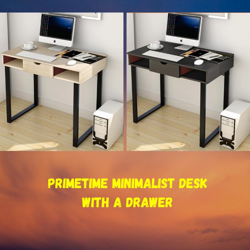 Primetime Minimalist Desk With A Drawer