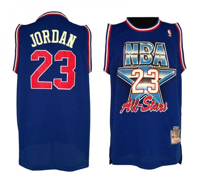 outlet store eb232 56a3d Michael Jordan #23 Blue Men's 1993 Throwback All-Star Jersey