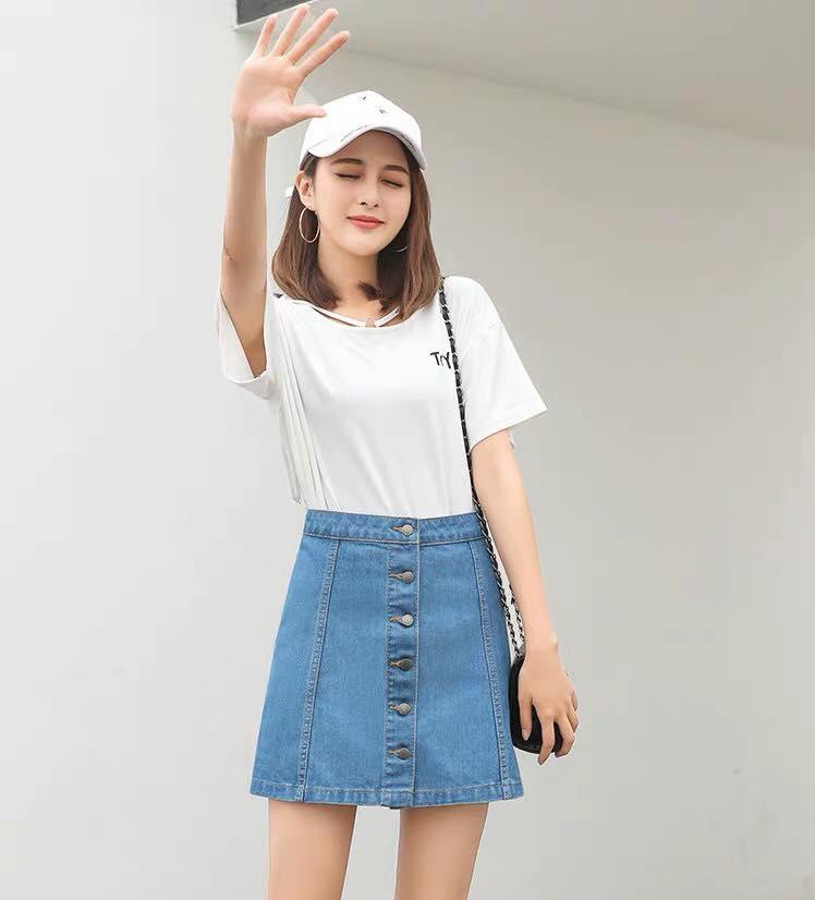 f764932e63 Product details of ICM #korean fashion Maong Skirt Higwaist Denim Skirt for  women