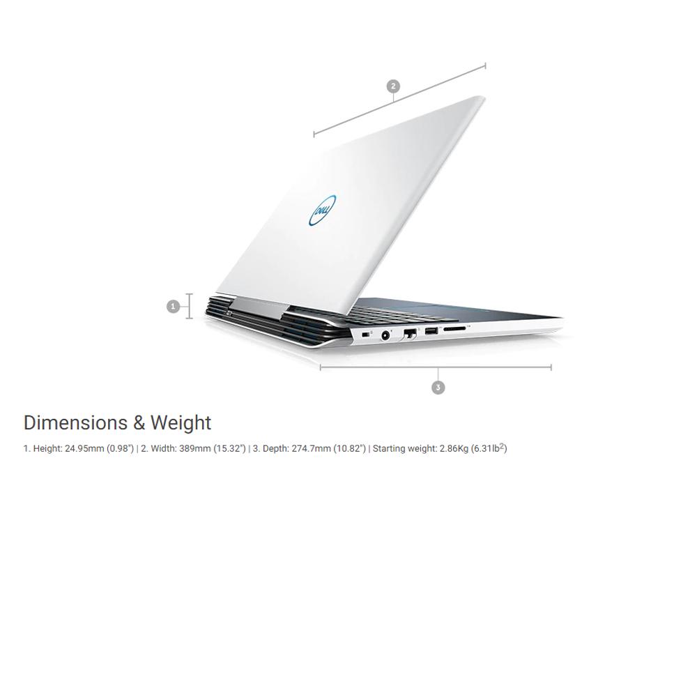 """DELL INSPIRON G7 15 7588-I78750H 15 6"""" INTEL CORE I7-8750H 16GB 256GB+1TB  GTX1060 WIN10 (BLACK)"""