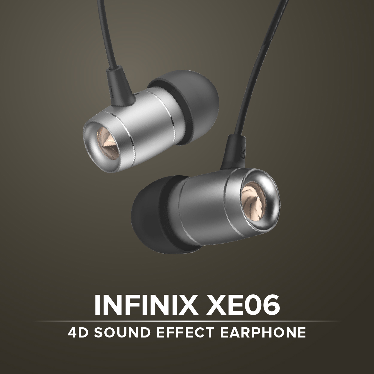 Infinix XE06 4D Sound Effect Stereo In- Ear Earphone Headset with  Microphone & Volume Control (Black)