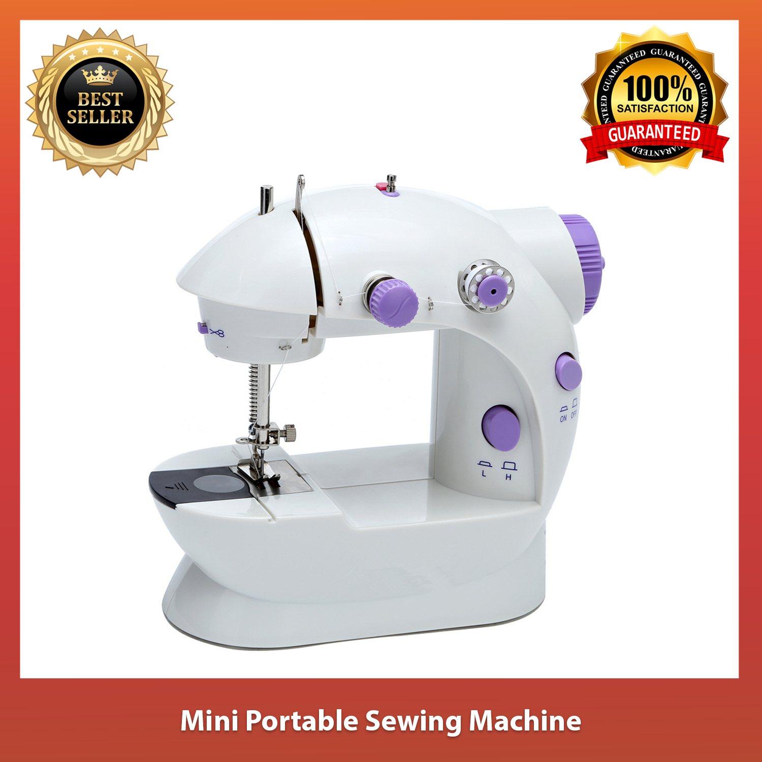 Mini Electric Sewing Machine Portable Sewing Machines with Extension Table Foot Adjustable Double Thread Sewing Machines for Beginner Adult Household Travel