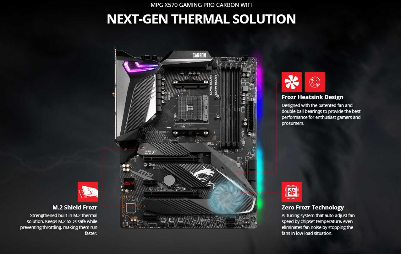 AMD Ryzen 9 3900X 12-core, 24-Thread Unlocked Desktop Processor with Wraith  Prism LED Cooler plus MSI MPG X570 Gaming Pro Carbon WIFI Motherboard