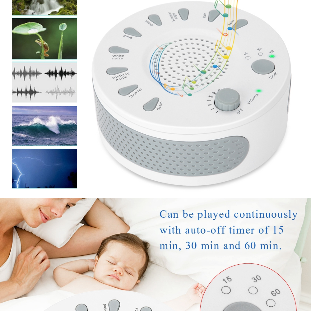 [Free gift ]White Noise Sleep Relax Sound Therapy Spa Baby Easy Sleep  Relaxation Soothing Aid Machine