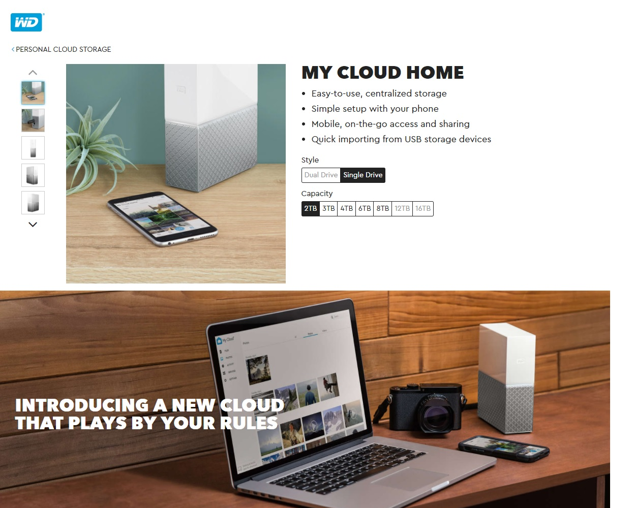 WD My Cloud Home Personal Cloud Storage Single Drive 8TB WDBVXC0080HWT-SESN  (Save everything at home, Access it anywhere)