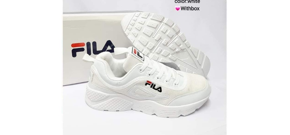 FILA RUNNING SHOES / WHITE RUBBER SHOES