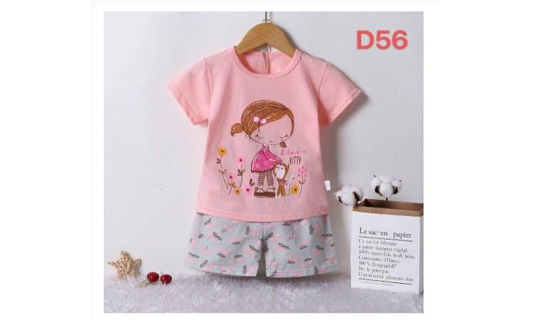 29d8a9dac3efc Baby Kids Queen Korean Terno T Shirt+Shorts For Girls Set