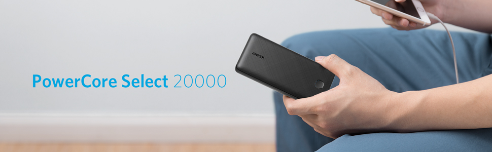 Anker PowerCore Select 20000, 20000mAh Power Bank with 2 USB-A Ports, Light Weight Portable Charger, PowerIQ 2.0 18W External Battery with MultiProtect and VoltageBoost with 18 Months Warranty | Lazada PH