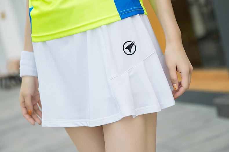 b2b1b40b0f 2018 Women Tennis Skirt all-match Anti Sport Badminton Skirt Pleated ...