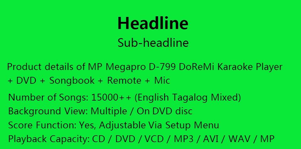 MP Megapro D-799 DoReMi Karaoke Player + DVD + Songbook + Remote + Mic