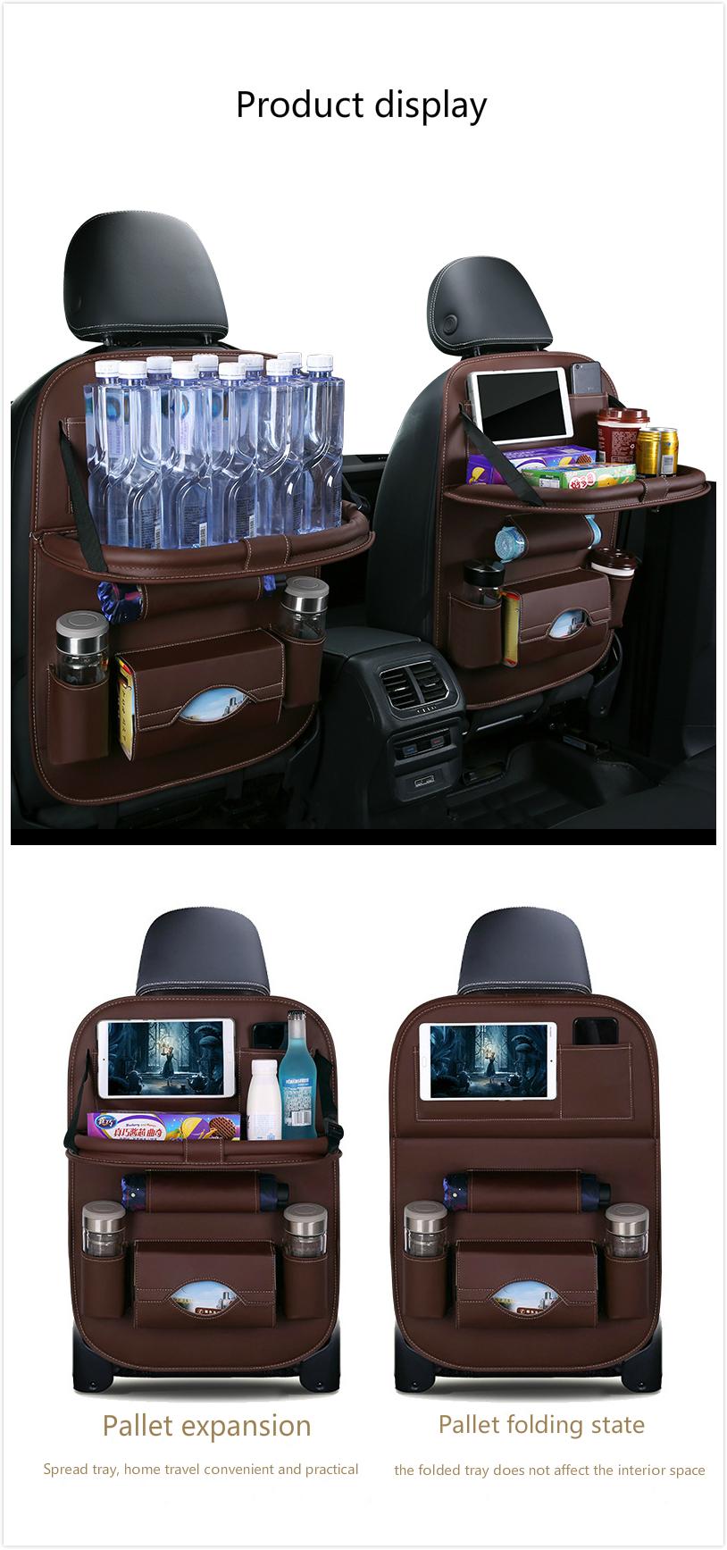 caf7af666e32 Car storage box/Auto Car Back Seat Storage Bag Car Seat Cover Organizer  Holder Bottle Tissue Box Magazine Cup Food Bag Backseat Organizer/Leather  seat ...