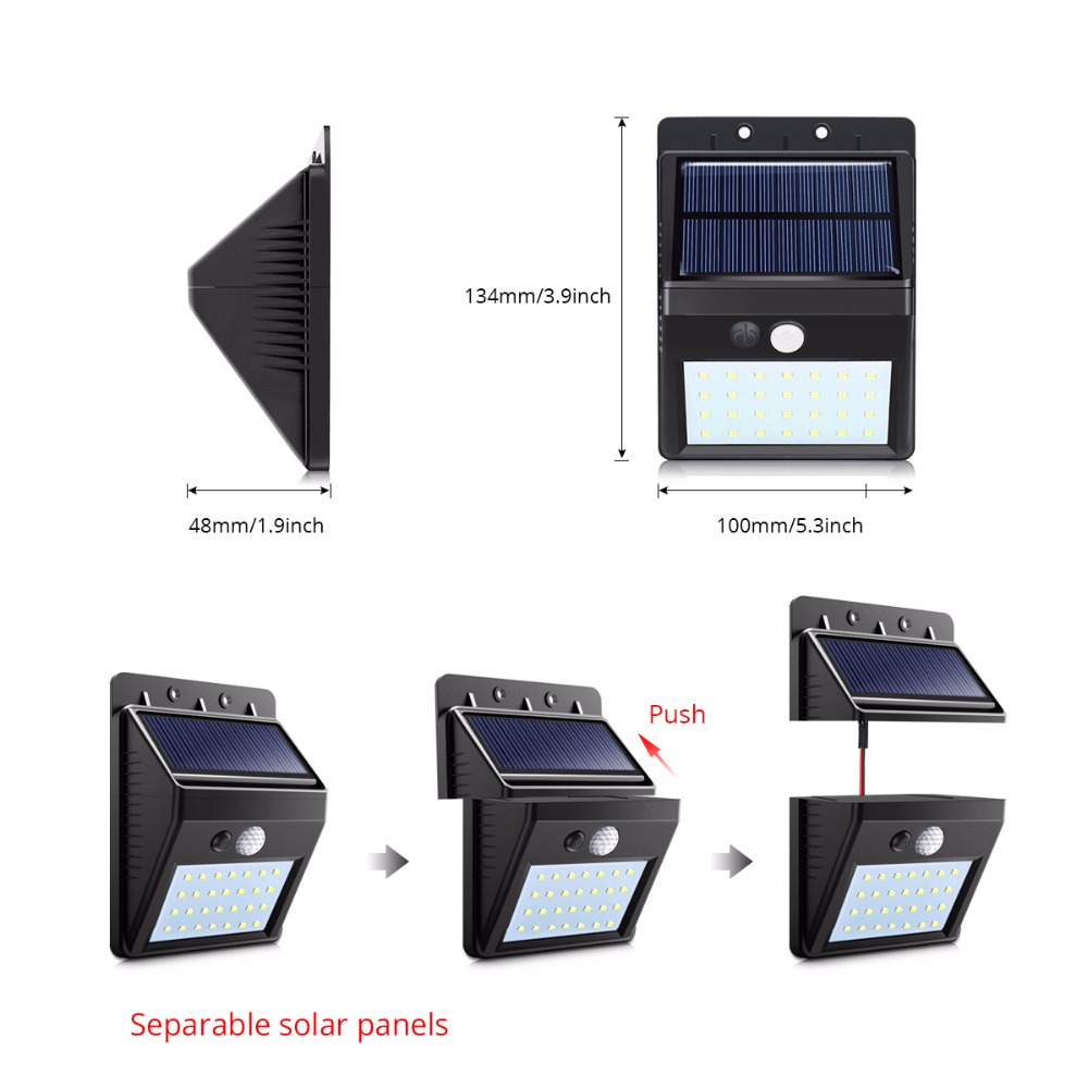 Solar Powered Led Wall Light 20led Lazada Ph