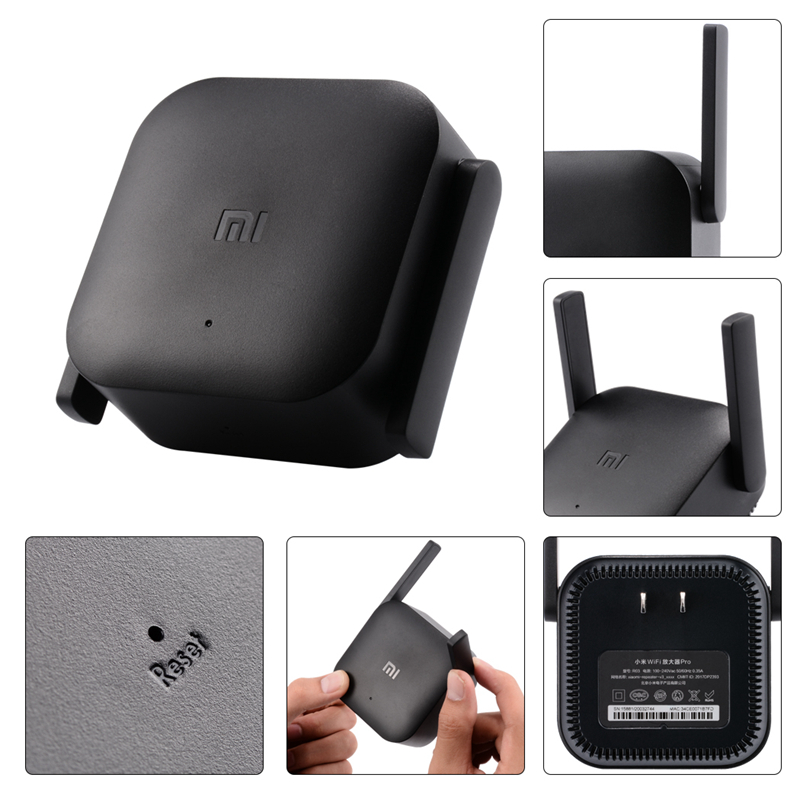 Authentic Xiaomi Pro 300M 2 4G WiFi Amplifier with 2 Antenna Mi Router  Wireless Repeater Network Router Extender