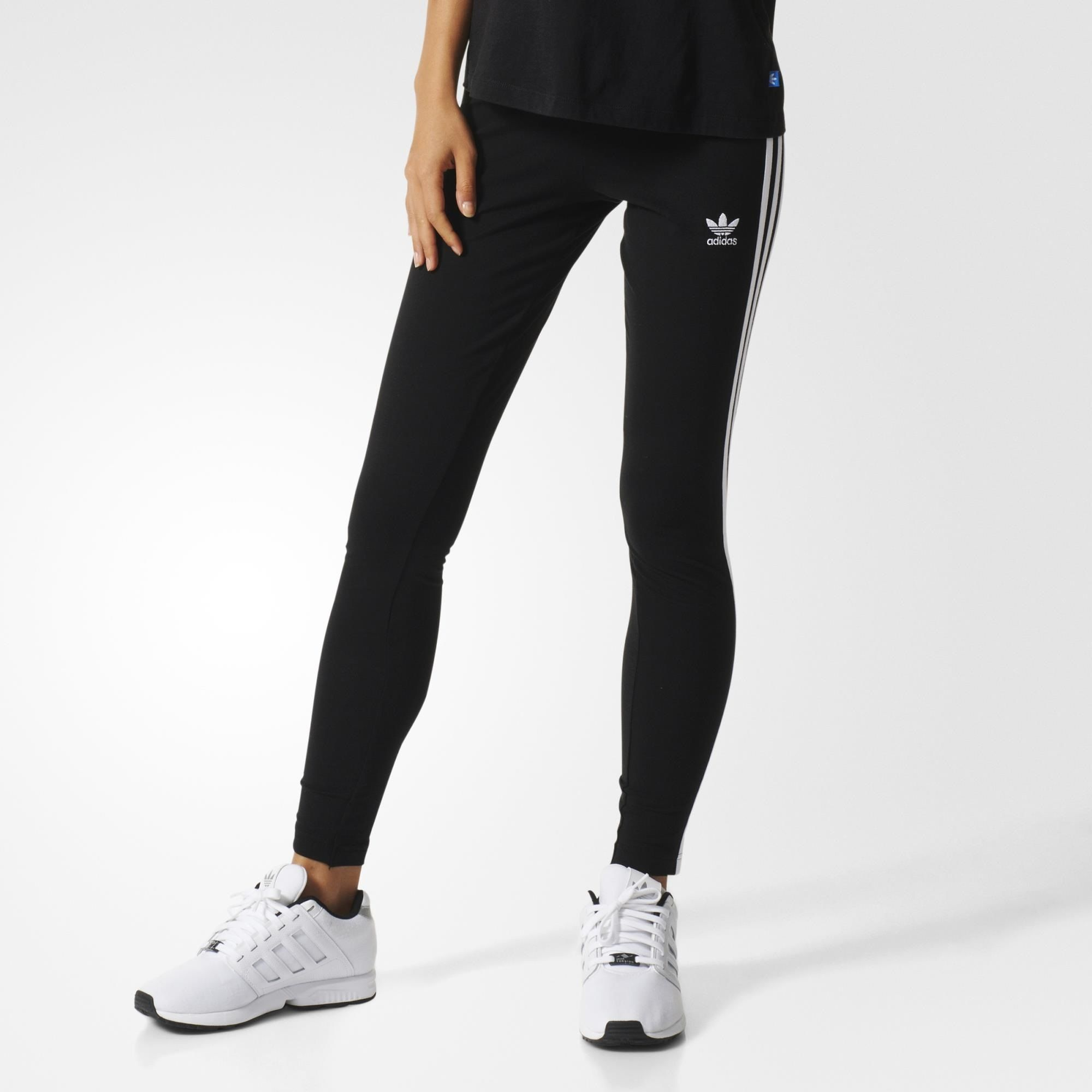 a3b37c85a90 Product details of Adidas Women's Originals 3-Stripes Leggings  AJ8156(CE2036) Black