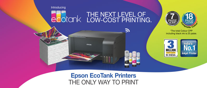 Epson L3110 EcoTank 3-in-1 Colored InkJet Printer with 1 set BCYM
