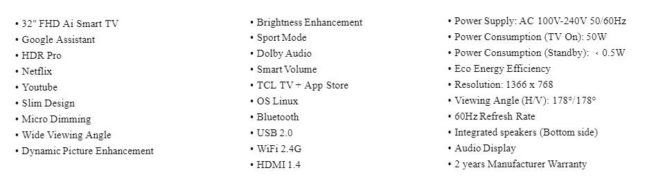 TCL LED-32S6800 32