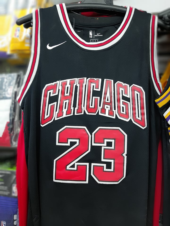 brand new 6013e 182e8 Jordan Basketball Jersey BULLS 23 (BLACK)