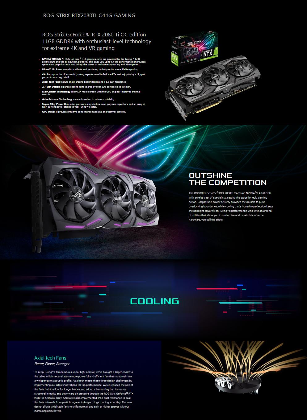Asus ROG Strix GeForce RTX™ 2080 Ti OC edition 11GB GDDR6