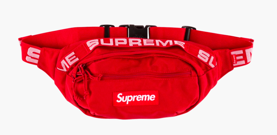 Authentic Supreme Waist Bag, Belt Bag (Red & Black Available Color
