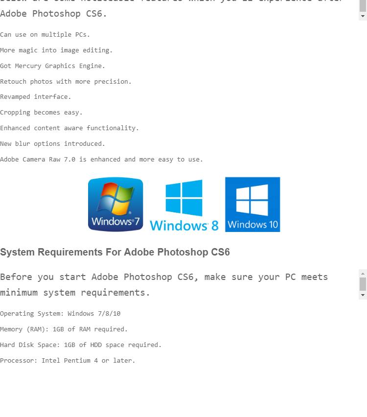 Adobe Photoshop CS6 Genuine Licence Key Activated