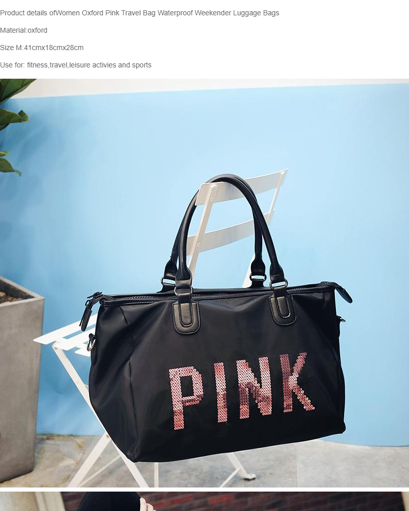 8fa1e1c61d29 ABS ABSL 1127 PINK Stylish travel bag shoulder slingbag high-quality waterproof  natural glossy nylon