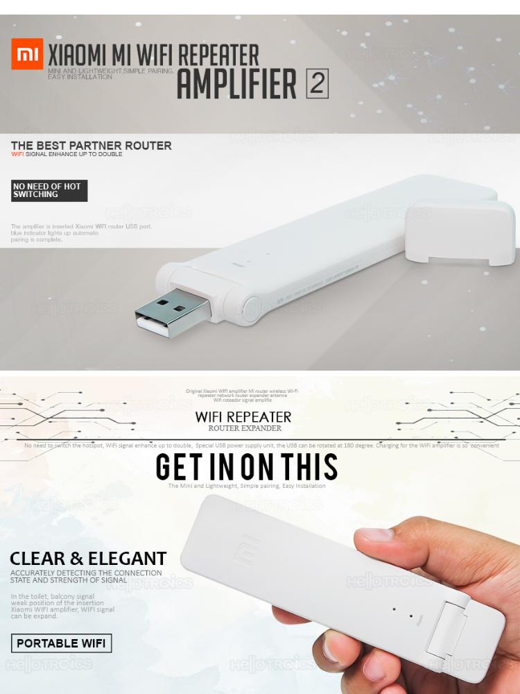 Xiaomi WiFi Repeater 2 CV Light Weight Special USB power supply unit, Mi  WiFi 300M amplifier