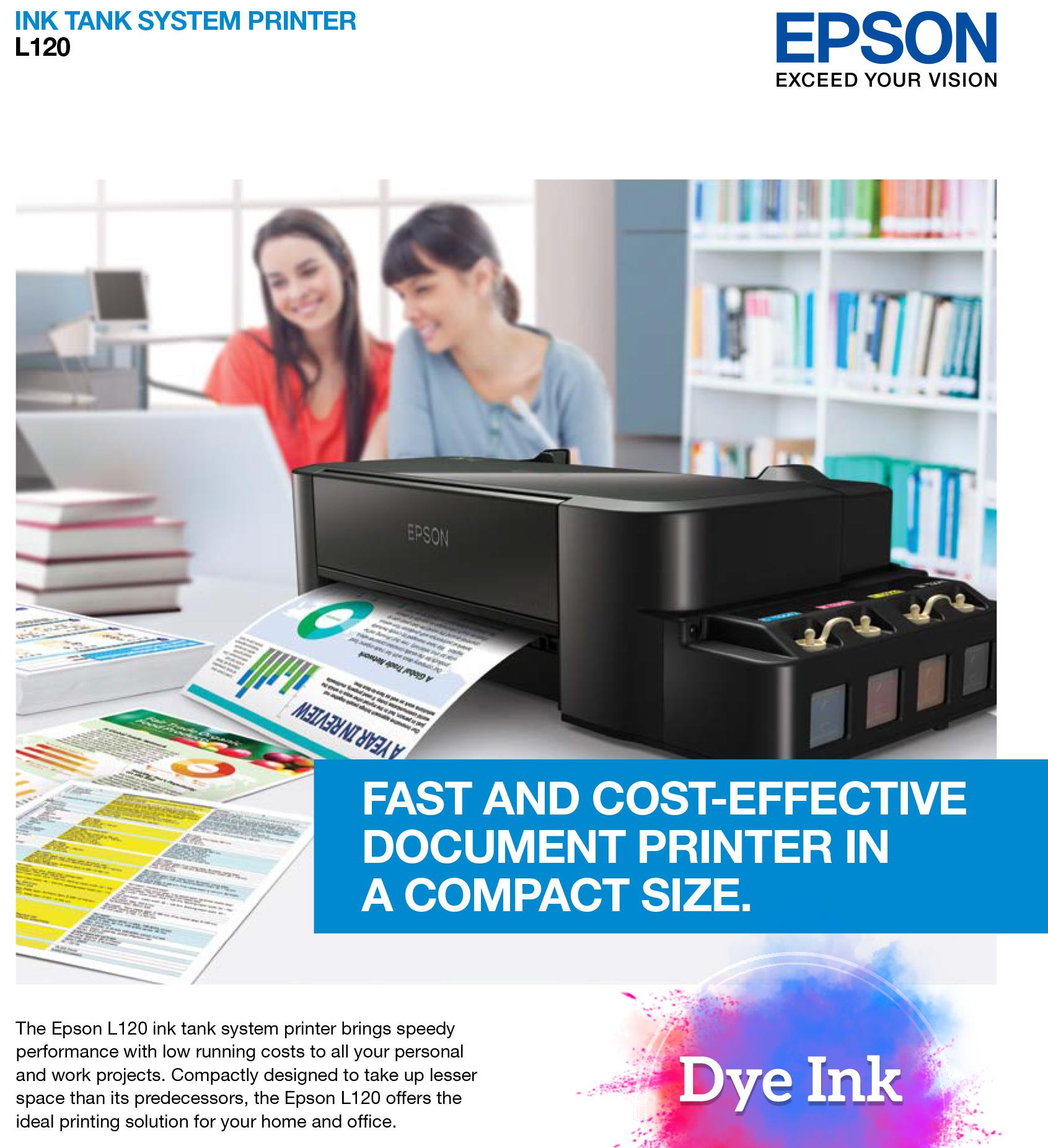Epson L120 Inkjet Printer (Dye Printer) | Lazada PH